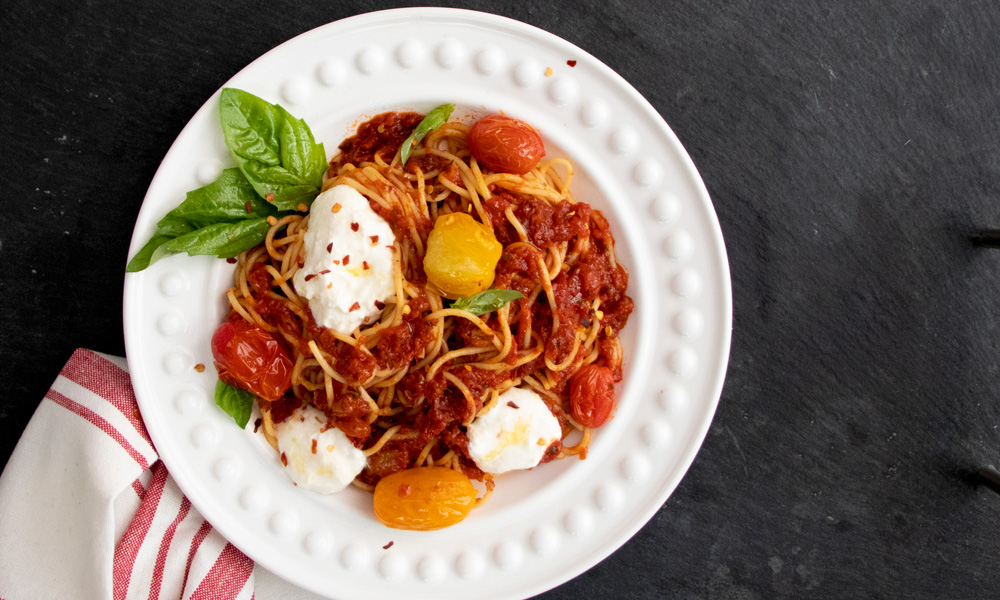 Spaghettini Burrata