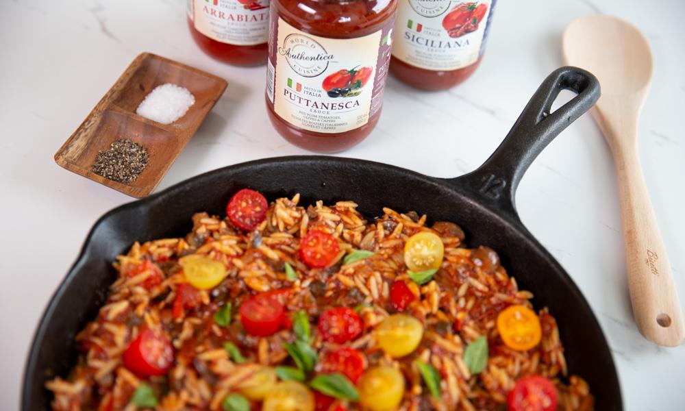 Tomato Mushroom Orzo