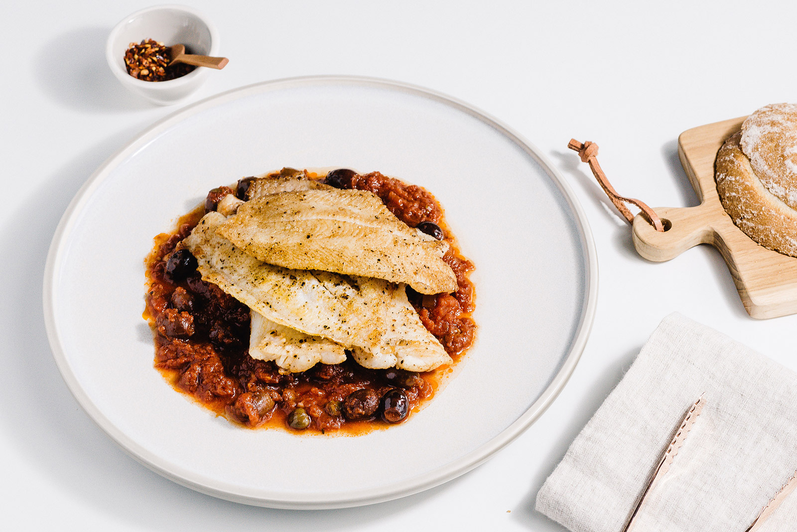 Pan Roasted Cod Puttanesca