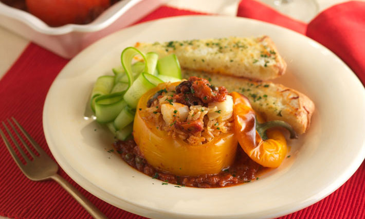 Seafood Stuffed Baked Bell Peppers