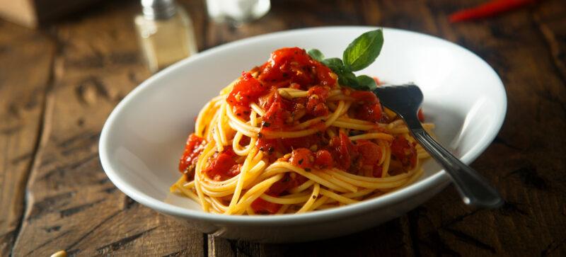 Bowl of Tomato Pasta