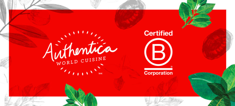 Authentica World Cuisine as a Certified B Corp