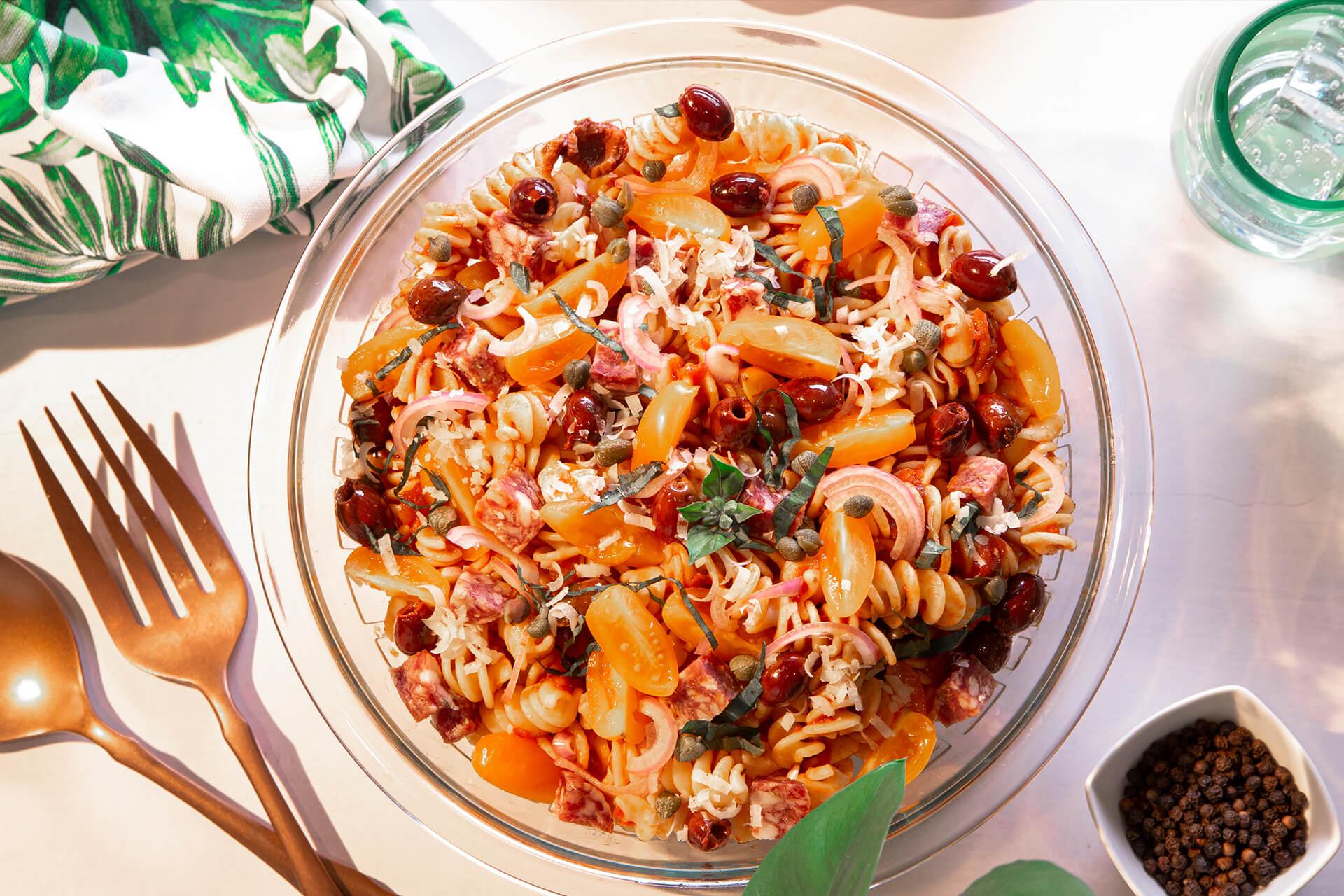 25-Minute Puttanesca Pasta Salad