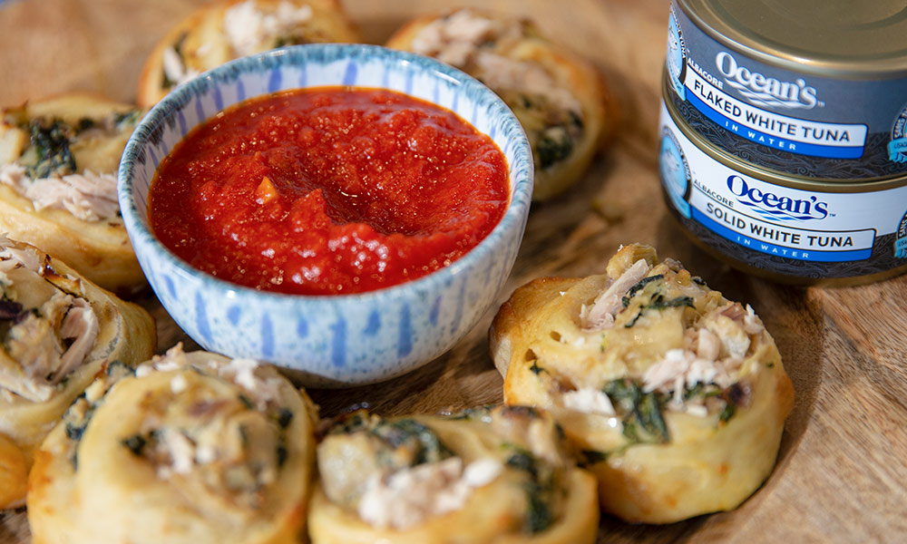 Oceans Authentica Baked Tuna Ricotta and Spinach Pinwheels 3